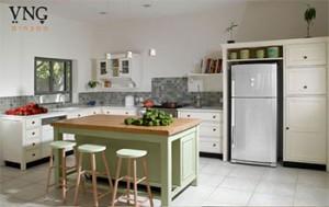 אי למטבח בגוון ירוק