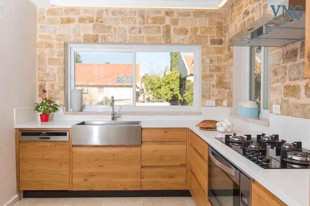 מגירות וארונות מטבח בסגנון כפרי
