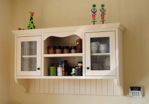 איזור אחסון הכלים במטבח